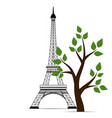 icon of eiffel tower vector image