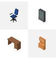 isometric furnishing set of sideboard cupboard vector image vector image