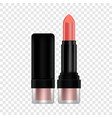 lipstick mockup realistic style vector image vector image