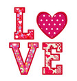 love greeting card valentines day vector image vector image