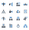 Management and Business Icons - Blue Series vector image vector image