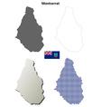 Montserrat outline map set vector image vector image