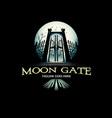 moon gate vector image