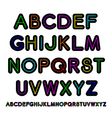 Neon style alphabet vector image vector image