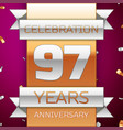 ninety seven years anniversary celebration design vector image vector image