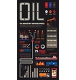 Oil industry infographics set with pipeline brush vector image vector image