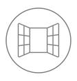 Open windows line icon vector image vector image