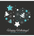 Ornate Christmas card with snowflakes vector image vector image