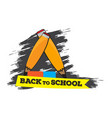 pair of pencils back to school concept image vector image