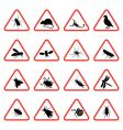 pest warning signs vector image vector image