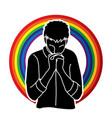 praise god prayer christian praying vector image vector image