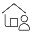 real estate agent line icon real estate and home vector image vector image