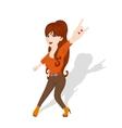 Redhead rocker girl vector image vector image