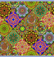seamless repeating mandala background vector image vector image