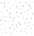 Seamless shiny silver glitter polka dot pattern vector image vector image