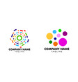 set colorful circle logo design vector image vector image