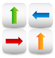 set of rounded square icons with colorful arrows vector image vector image