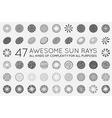 set sunburst rays sun vector image vector image