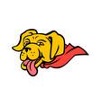 super yellow labrador retriever wearing cape vector image vector image