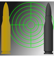 target and cartridges vector image