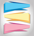 three banners in different colors vector image
