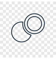 two circles concept linear icon isolated on vector image