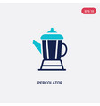 two color percolator icon from electronic devices vector image