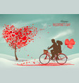valentines day background with a heart shaped vector image vector image