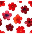 watercolor seamless pattern with red vector image