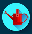 watering can icon irrigation symbol flat vector image vector image