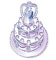 weddingcake vector image vector image