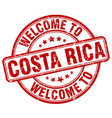 welcome to costa rica vector image vector image