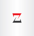 z letter z black red icon logotype sign vector image vector image