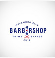 retro barbershop abstract sign emblem or vector image