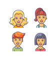 women avatar icon with different haircuts vector image