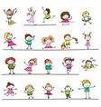 happy kids 03 vector image
