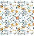 Seamless oriental tribal pattern vector image
