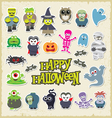 Halloween party icon design set