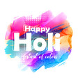 abstract happy holi greeting background vector image vector image
