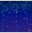Abstract mosaic in royal blue vector image vector image