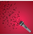 abstract music background with notes and vector image vector image