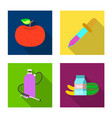 and icon collection of vector image