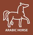 arabic horse logo template vector image vector image