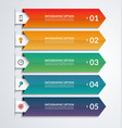 arrow infographic template with 3 steps vector image vector image