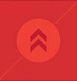 arrow red background vector image