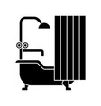 bathroom icon sign o vector image