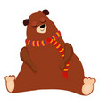 bear funny alphabet animal vector image vector image