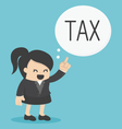 Business Woman pointing tax vector image vector image