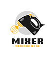 cake maker mixer tool logo vector image