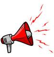cartoon red megaphone icon vector image